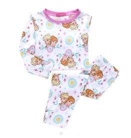 Meisjespyjama's Disney Frozen Pyjama - wit / roze