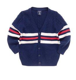 Jongenskleding Wollen Vest Gestreept - blauw