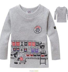LaraModa Beertjes Supermarkt Sweater - grijs