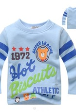 Jongenskleding Hot Biscuits Super League Jongens Sweater - blauw
