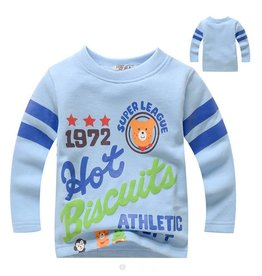 LaraModa Hot Biscuits Super League Sweater - blauw