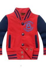 Jongenskleding Jongens Baseball Jack - rood / blauw