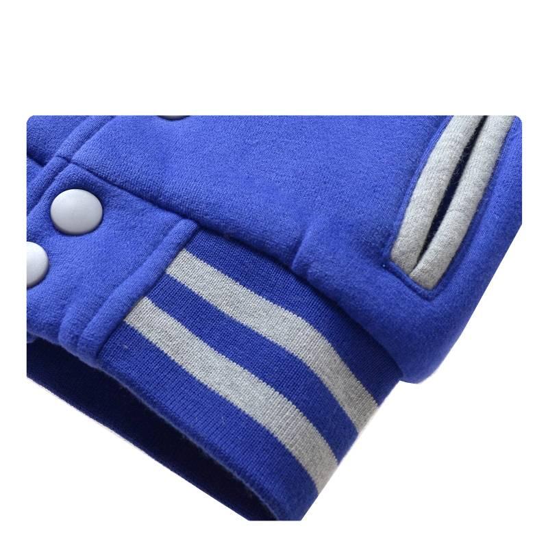 Jongenskleding Jongens Baseball Jack - blauw / grijs