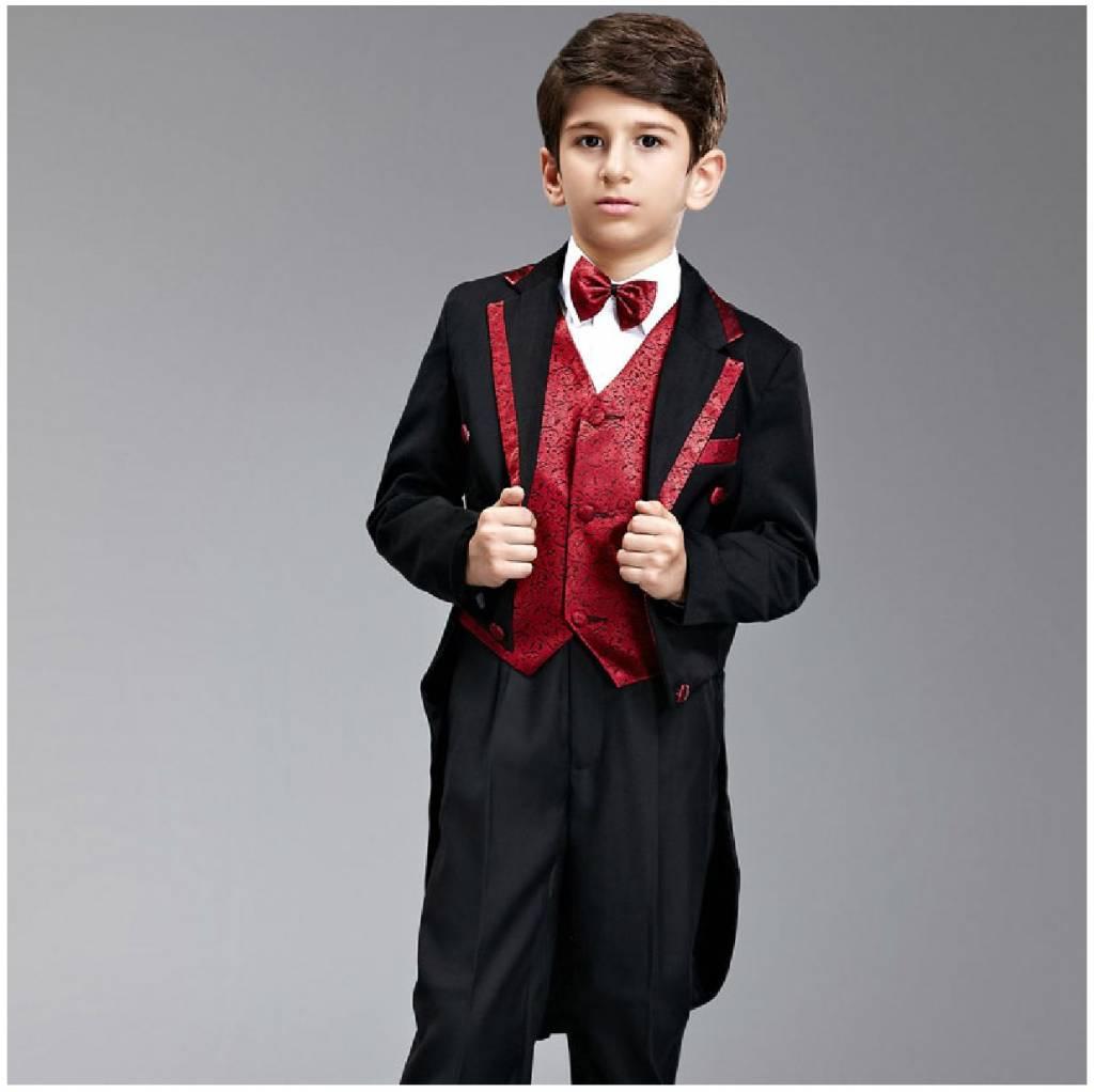 Jongenskleding Jongenskostuum - rokkostuum George - zwart / rood