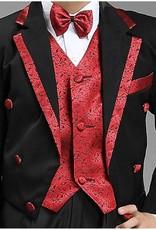 LaraModa Jongenskostuum - rokkostuum George - zwart / rood