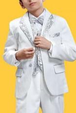 Jongenskleding Jongenskostuum Thomas - wit / zilver