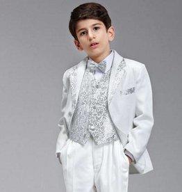 Jongenskostuum Thomas, wit/zilver