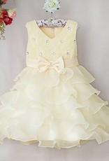 Meisjeskleding Meisjes Feestjurk Lara - ivoor / geel