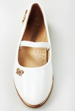 Meisjesschoenen Meisjesschoen - Ballerina's - lak - wit