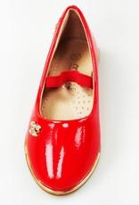 LaraModa Meisjesschoen - Ballerina's - lak - rood