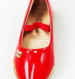 LaraModa Ballerina's - lak - rood