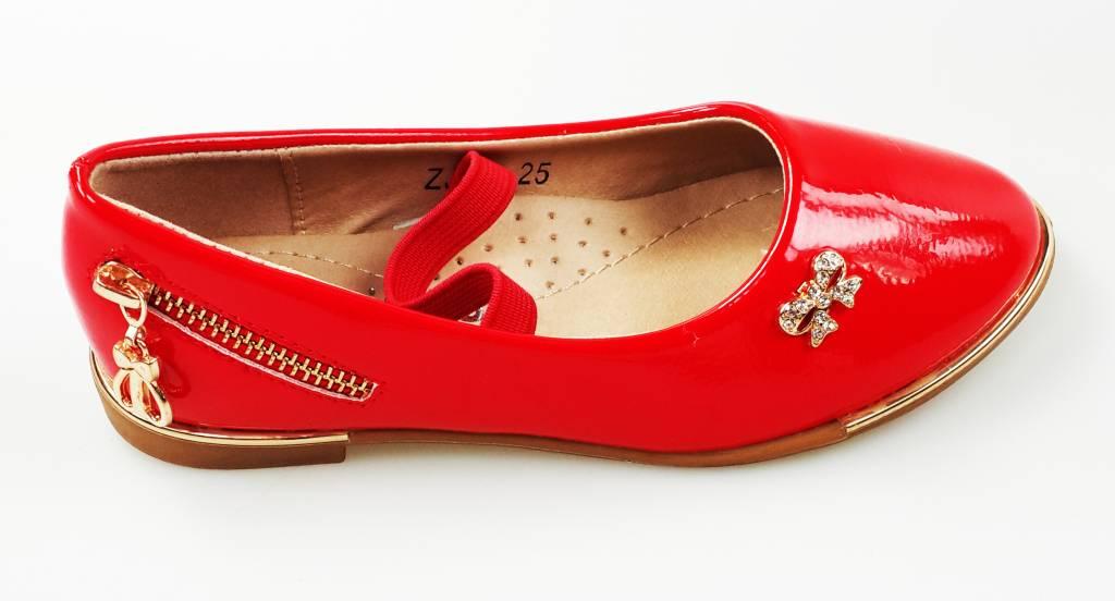 Meisjesschoenen Meisjesschoen - Ballerina's - lak - rood