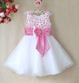 Meisjeskleding Feestjurk Zara - wit / lichtroze