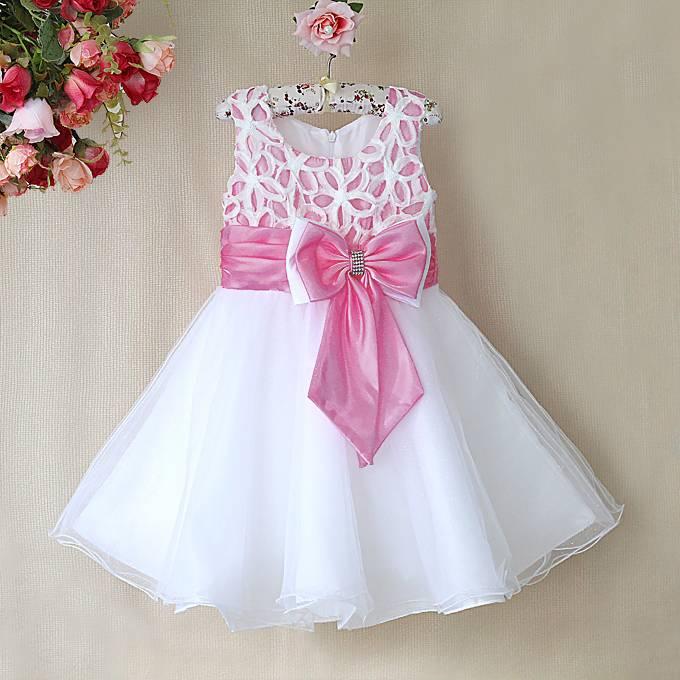Meisjeskleding Meisjes Feestjurk Zara - wit / lichtroze