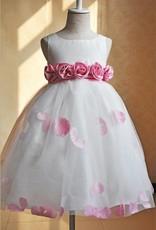 Meisjeskleding Meisjes Feestjurk Gabriëlla - wit / roze