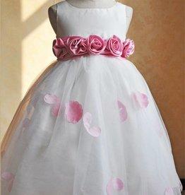 Feestjurk Gabriëlla, wit/roze
