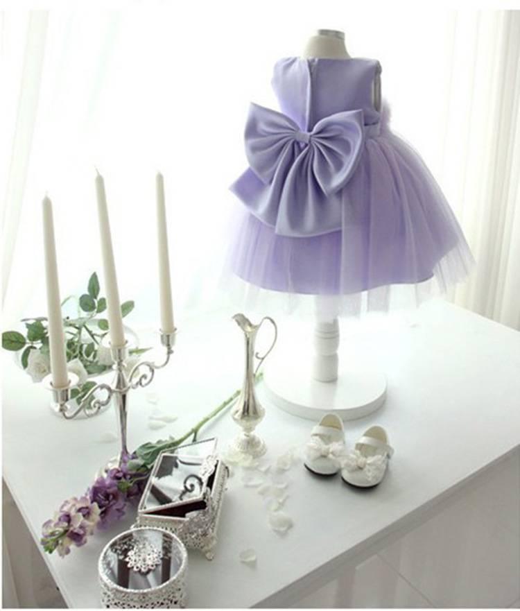 LaraModa Meisjes Feestjurk Luna - lavendel