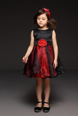 Meisjeskleding Meisjes Feestjurk Aurora - zwart / rood