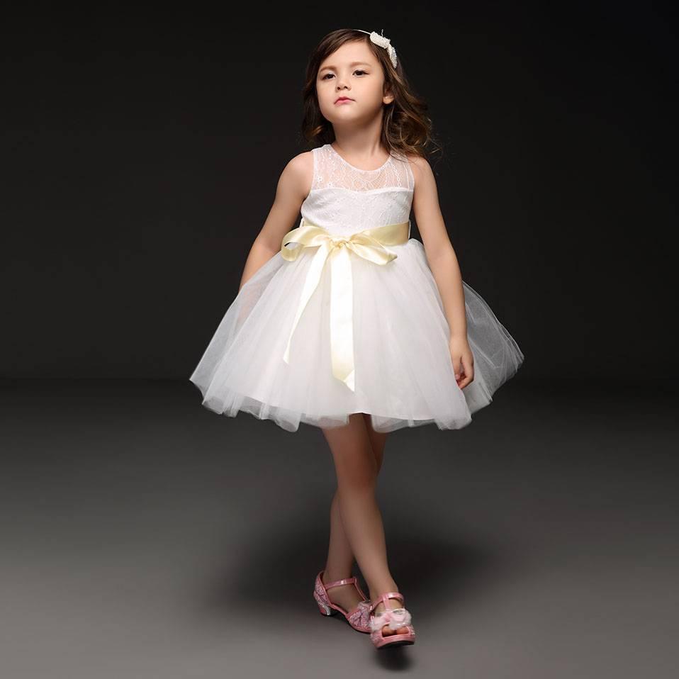Meisjeskleding Meisjes Feestjurk Bridget - wit