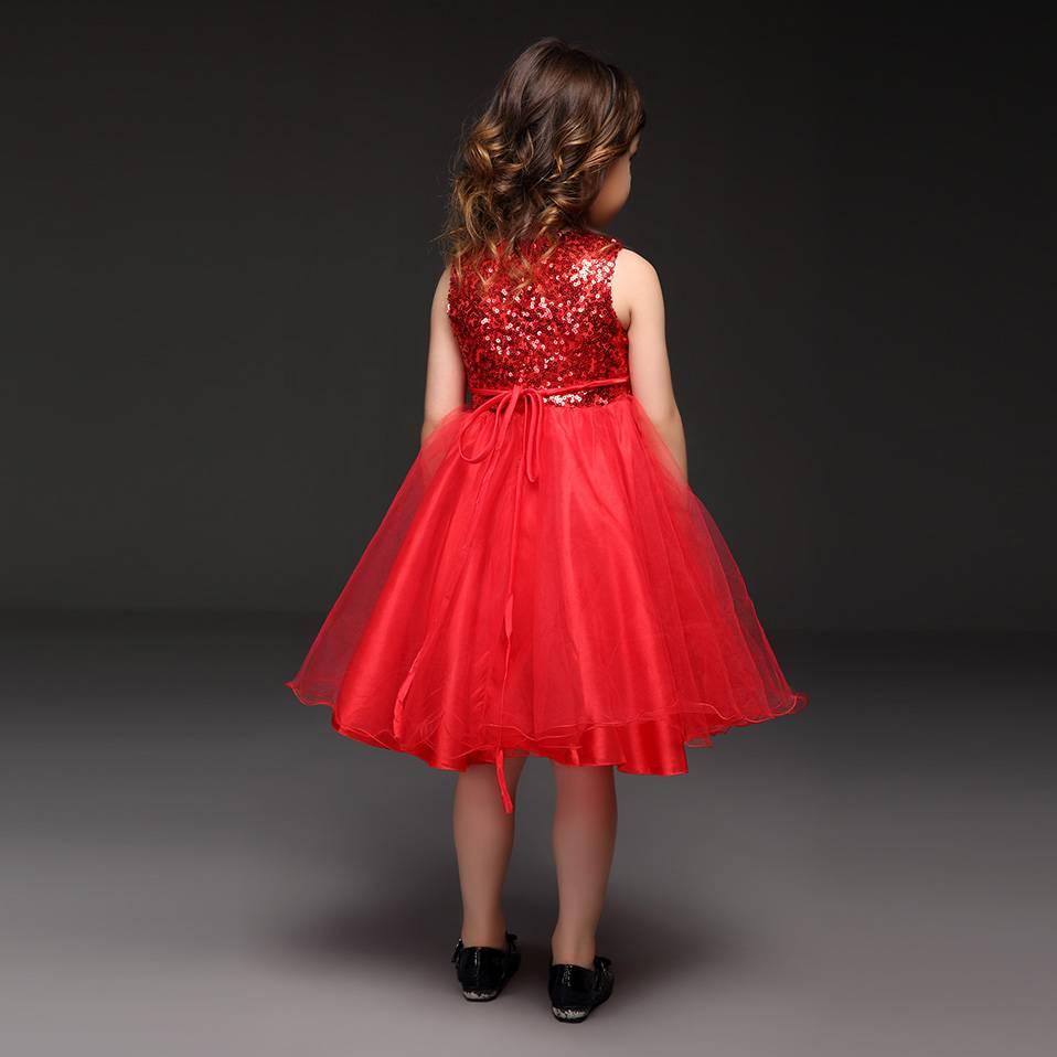 LaraModa Meisjes Feestjurk Ella - rood