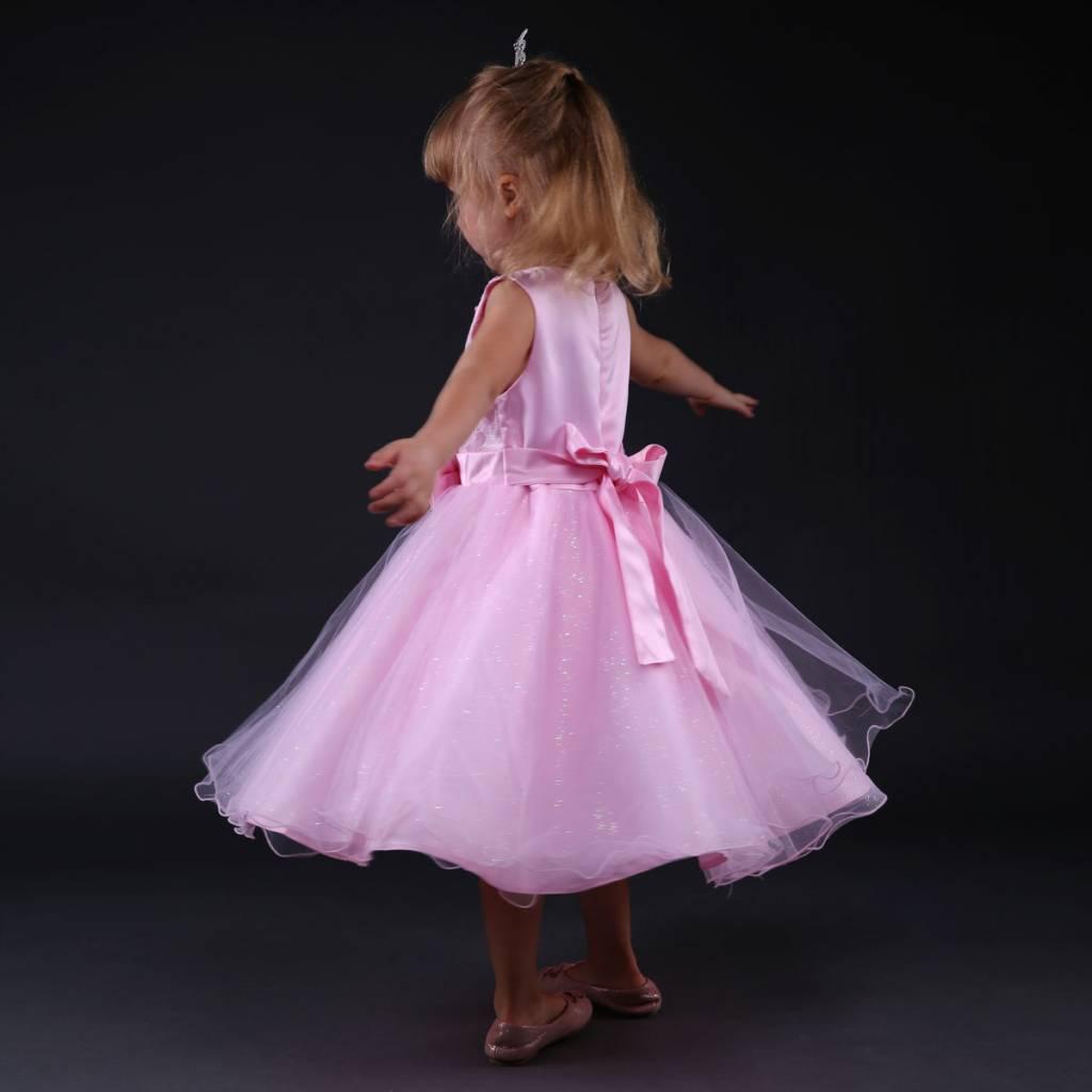 Meisjeskleding Meisjes Feestjurk Moon - roze