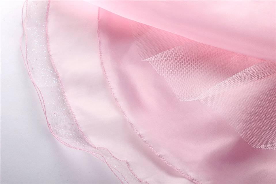 Meisjeskleding Meisjes Feestjurk Roos - roze