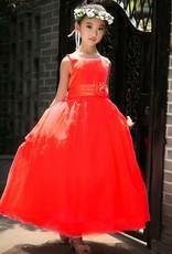 Meisjeskleding Meisjes Feestjurk Sasha - rood