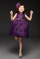 LaraModa Meisjes Feestjurk Isabelle - paars