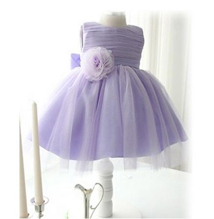 Meisjeskleding Meisjes Feestjurk Luna - lavendel