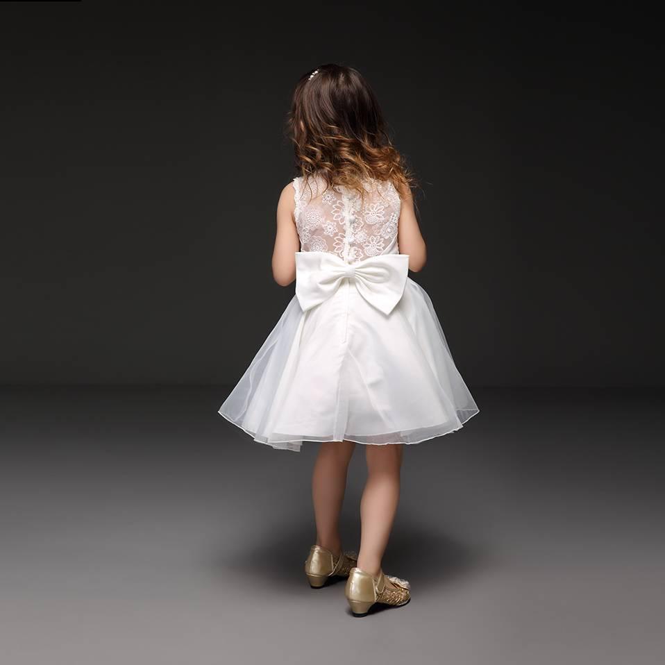 LaraModa Meisjes Feestjurk Renee - wit