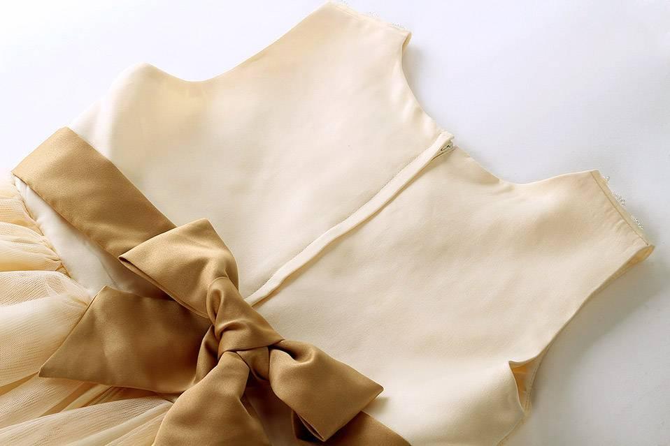 Meisjeskleding Meisjes Feestjurk Sisi - ivoor / geel