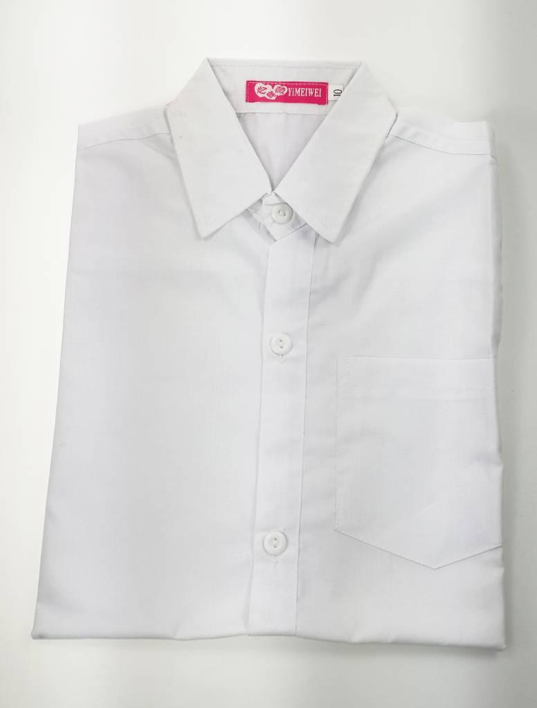 Jongenskleding Kinderoverhemd Jongens - effen - lange mouwen - wit
