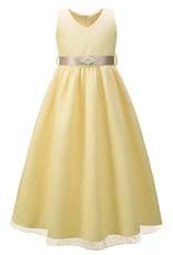 Meisjeskleding Meisjes Feestjurk Eva - ivoor / geel
