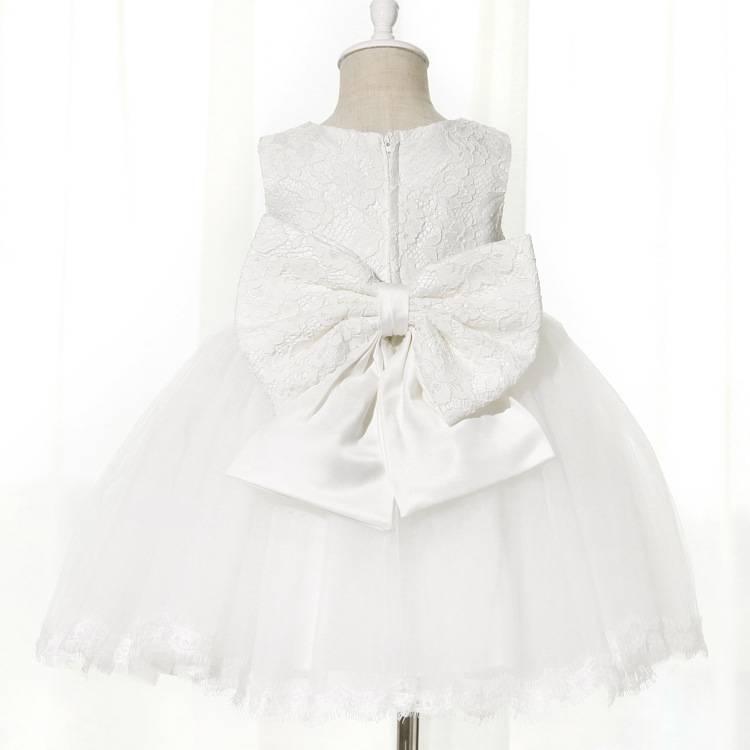 Meisjeskleding Meisjes Feestjurk Lena - wit