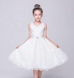 Meisjeskleding Feestjurk Annabelle - wit