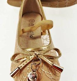 LaraModa Ballerina's - doorzichtig - goud