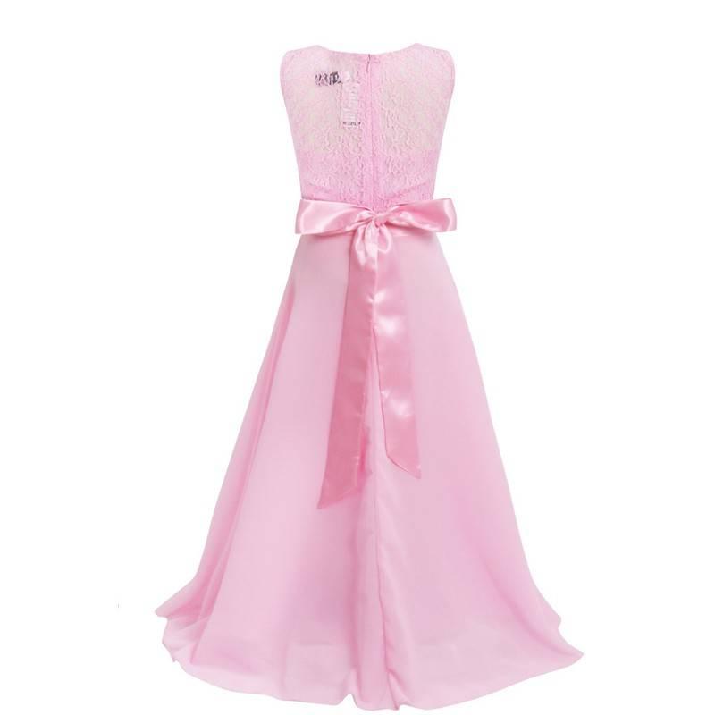 Meisjeskleding Meisjes Feestjurk Bella - roze