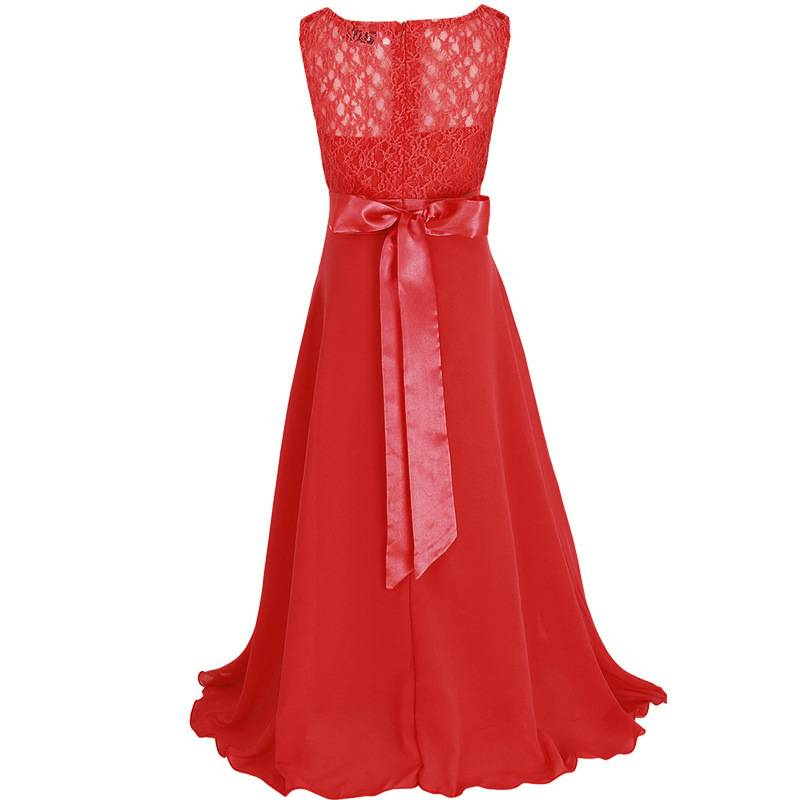 LaraModa Meisjes Feestjurk Bella - rood