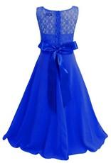 LaraModa Meisjes Feestjurk Bella - blauw