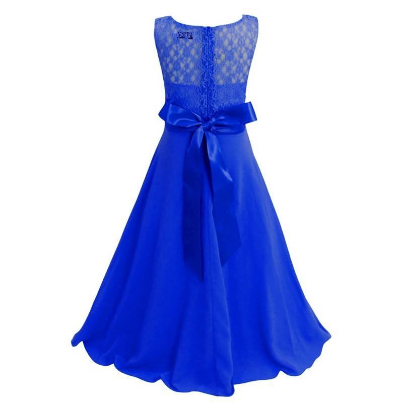 Meisjeskleding Meisjes Feestjurk Bella - blauw