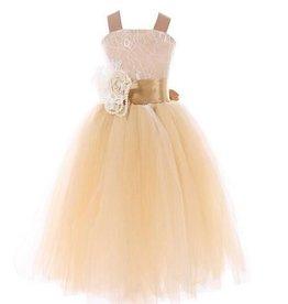 Meisjeskleding Feestjurk Lizzy - champagne