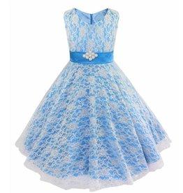 Meisjeskleding Feestjurk Emma - blauw