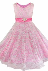 LaraModa Meisjes Feestjurk Emma - roze