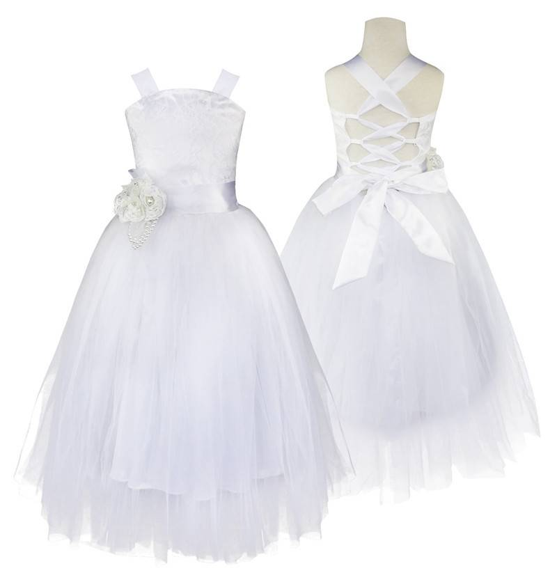 Meisjeskleding Meisjes Feestjurk Lizzy - wit