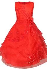 Meisjeskleding Meisjes Feestjurk Esmeralda - rood
