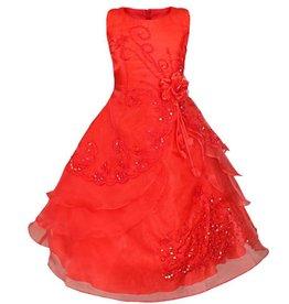LaraModa Feestjurk Esmeralda - rood