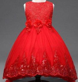 Meisjeskleding Feestjurk Lisa - rood