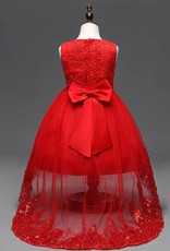 Meisjeskleding Meisjes Feestjurk Lisa - rood
