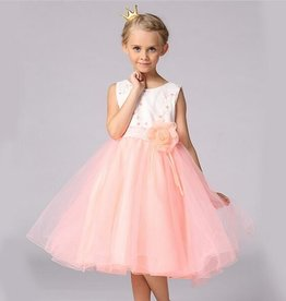 Meisjeskleding Feestjurk Mila - roze / zalmroze