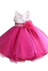 Meisjeskleding Meisjes Feestjurk Mila - fuchsia